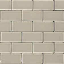 "2"" x 4"" Glass Subway Tile in Mist"
