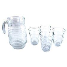 5 Piece Glass Decanter and Tumbler Set