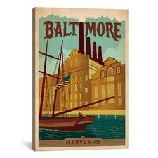 Baltimore, Maryland Vintage Advertisement on Canvas