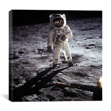 Buzz Aldrin Moonwalker Canvas Wall Art