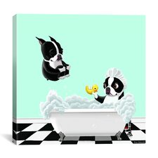 """Bath Tub BT"" by Brian Rubenacker Graphic Art on Canvas"