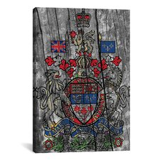 Canada, Coat of Arms #7 Graphic Art on Canvas