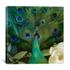 'Aqua Peacock' by Color Bakery Graphic Art on Canvas