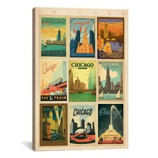 """Chicago"" by Anderson Design Group Vintage Advertisement on Canvas"