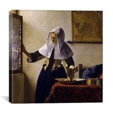 """""""Young Woman with a Water Pitcher"""" Canvas Wall Art By Johannes Vermeer"""