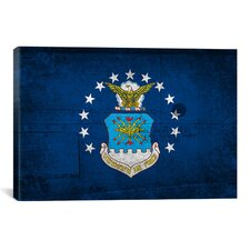 Air-Force Flag, Metal Rivet Graphic Art on Canvas