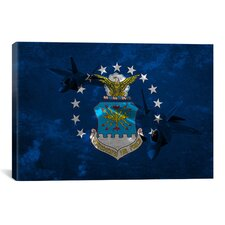 Air-Force Flag, Raptor Graphic Art on Canvas