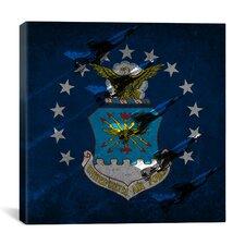 Air-Force Flag, Thunderbirds Graphic Art on Canvas