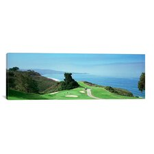 Panoramic Torrey Pines Golf Course, San Diego, California Photographic Print on Canvas