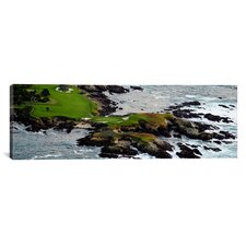 Panoramic Pebble Beach Golf Links, Pebble Beach, California Photographic Print on Canvas