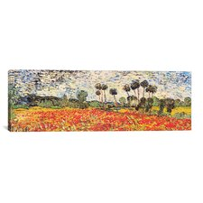 """Field of Poppies"" by Vincent van Gogh Painting Print on Wrapped Canvas"