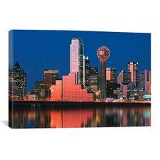 Panoramic Digital Composite, Dallas, Texas Photographic Print on Canvas