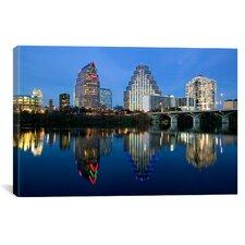 Panoramic Town Lake, Austin, Texas Photographic Print on Canvas