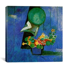 """""""Flowers and Ceramic Plate (1911)"""" Canvas Wall Art by Henri Matisse"""
