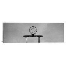 Panoramic Low Angle View of a Basketball Hoop Photographic Print on Canvas