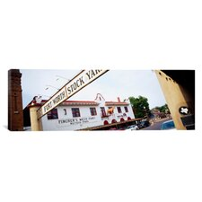 Panoramic Fort Worth Stockyards, Fort Worth, Texas Photographic Print on Canvas