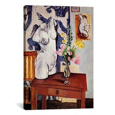 'Plaster Torso and Bouquet of Flowers' by Henri Matisse Painting Print on Canvas