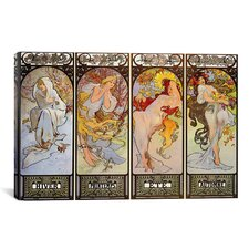 'Les Saisons' by Alphonse Mucha Graphic Art on Canvas