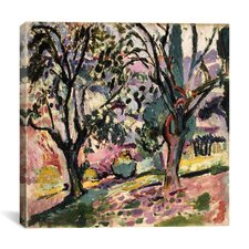 """""""Promenade Among the Olive Trees (1906)"""" Canvas Wall Art by Henri Matisse"""