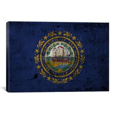 Flags New Hampshire Graphic Art on Canvas
