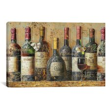 Wine Collection Painting Print on Canvas
