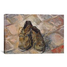 'Shoes 1888' by Vincent Van Gogh Painting Print on Canvas