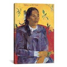 'Vahine No Te Tiare (Vi)' by Paul Gauguin Painting Print on Canvas
