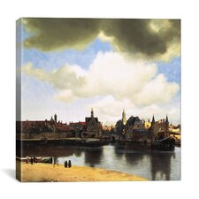 """""""View of Delft, C.1660-61"""" Canvas Wall Art by Johannes Vermeer"""