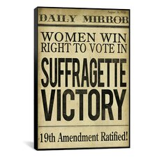 """Women's Right to Vote"" Canvas Wall Art from Color Bakery"