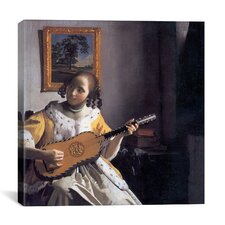 """""""The Guitar Player"""" Canvas Wall Art by Johannes Vermeer"""