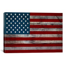 """""""U.S. Constitution - American Flag"""", Wood Boards Graphic Art on Canvas"""