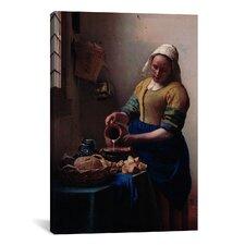 'The Milkmaid' by Johannes Vermeer Painting Print on Canvas