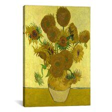 'Sunflowers' by Vincent Van Gogh Painting Print on Canvas