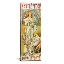 Nestle's Food for Infants 1898 Canvas Wall Art by Alphonse Mucha