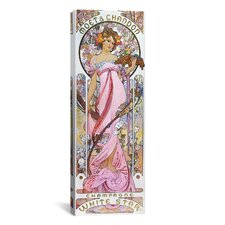 Moët and Chandon White Star 1899 Canvas Wall Art by Alphonse Mucha