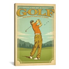 """Golf Lucky"" by Anderson Design Group Wall Art on Wrapped Canvas"