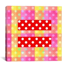 Flags Gay Red Equality Sign, Equal Rights Symbol Graphic Art on Canvas in Yellow