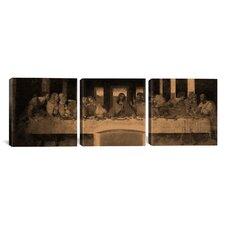 Leonardo da Vinci The Last Supper IV 3 Piece on Wrapped Canvas Set