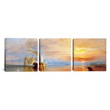 J.M.W Turner Fighting Temeraire 3 Piece on Wrapped Canvas Set