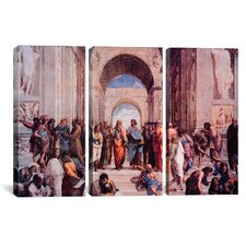 Raphael School of Athens 3 Piece on Wrapped Canvas Set