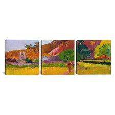 Paul Gauguin Tahitian Landscape 3 Piece on Wrapped Canvas Set