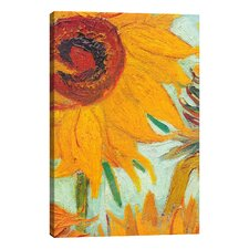 'Twelve Sunflowers' by Vincent Van Gogh Painting Print on Wrapped Canvas