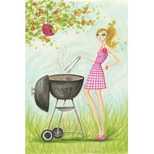Backyard BBQ by Bella Pilar Painting Print on Canvas
