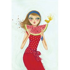 Backyard Melon by Bella Pilar Painting Print on Canvas