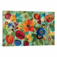 'Summer Floral' by Silvia Vassileva Painting Print on Wrapped Canvas