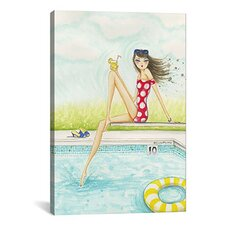 Backyard Pool #2 by Bella Pilar Painting Print on Canvas