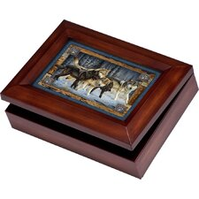 Wildlife Digital Wolves Music Jewelry Box