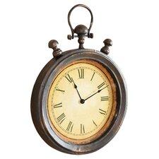 """Antique Stop Watch 20"""" Metal Wall Clock"""