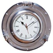 """11"""" Metal Porthole Wall Clock"""