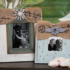 2 Piece Vintage Wooden Photo Frames Set
